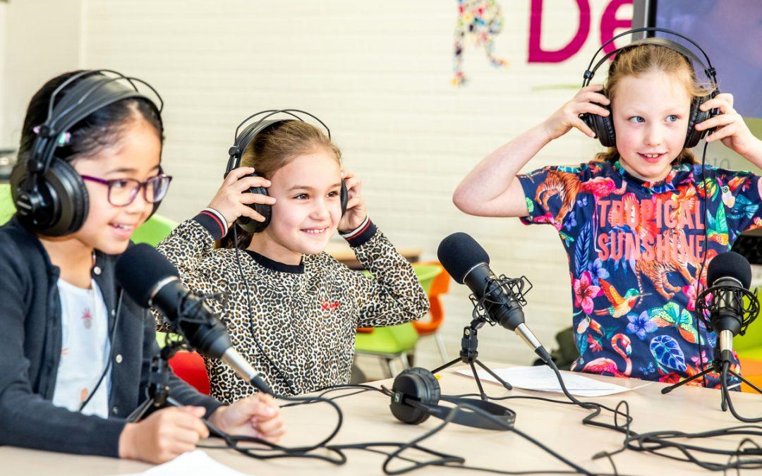 Uitdagers voor Kids KC De Kiezel maken radiocommercials