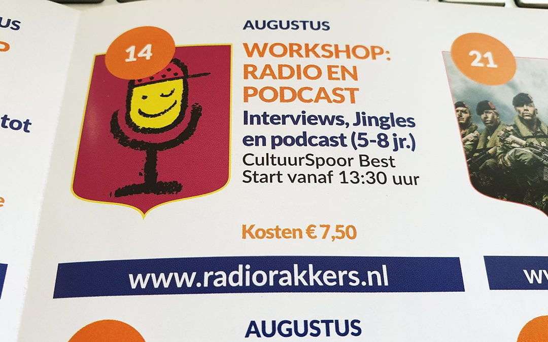 Workshops radio en podcast voor kinderen in Best