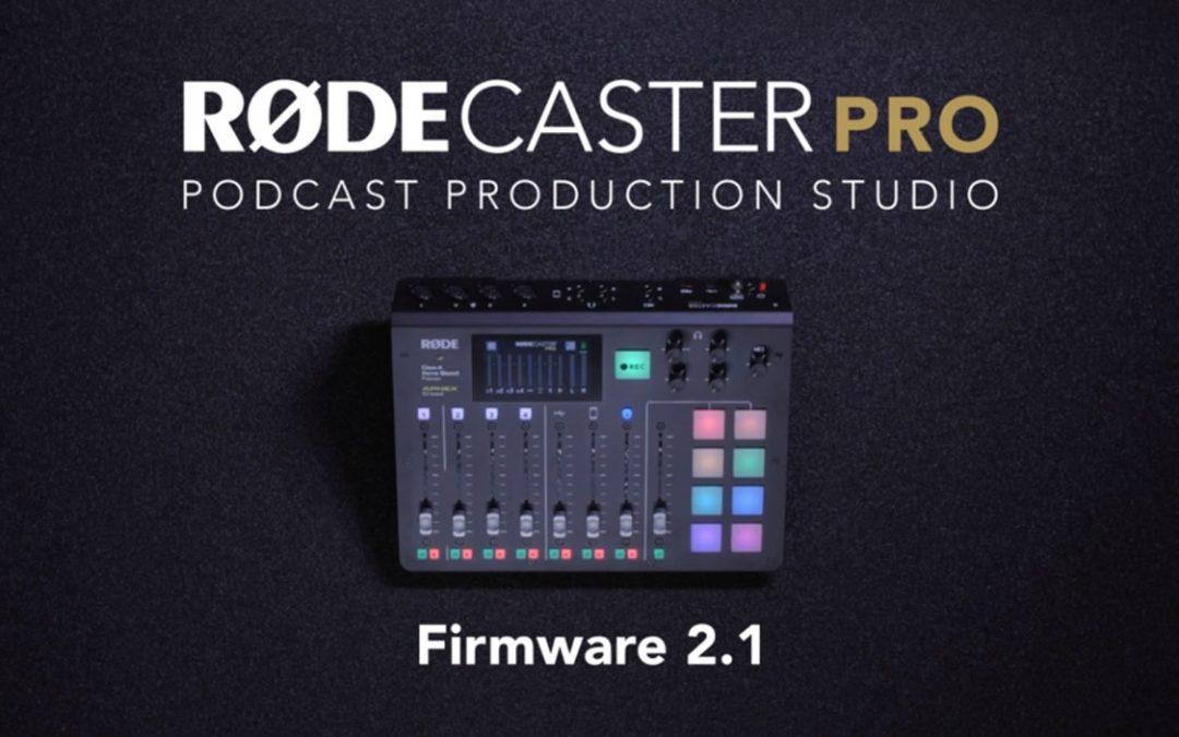 Belangrijke firmware update 2.1 (bèta) RØDECaster Pro